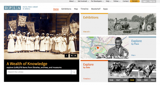 DPLA - front page