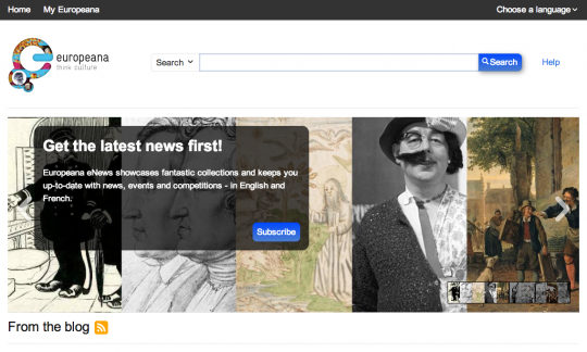 Europeana - front page