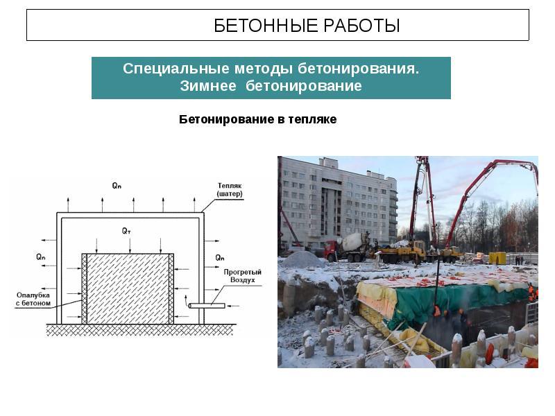 Укладка бетонных смесей в зимнее время бой бетона куплю