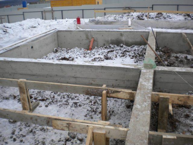 бетон замерз