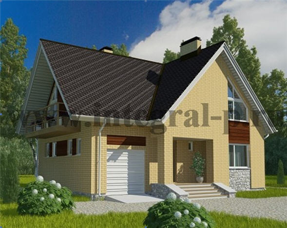 Описание проекта дома из пенобетона (газобетона) № WS-186