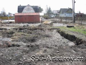 подготовка земли под дом из пенобетона