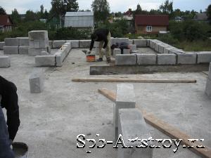 строительство дома из пенобетона фото