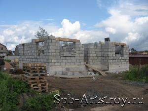 стройка дома готовы стены