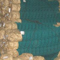 Сетка плетёная рабица полимерная оболочка зелёная