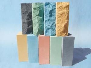 кирпич силикатный (колотый, цветной, лицевой)