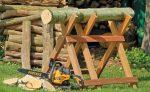 Козлы для дров – виды, конструкция, как сделать самому