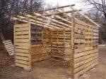 Как построить сарай из поддонов – Делаем сарай из поддонов