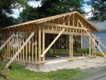 Гараж из деревянного каркаса – Каркасный гараж из дерева своими руками
